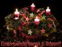 Einen wunderbaren 4. Advent!    Dieses Motiv finden Sie seit dem 16. Dezember 2016 in der Kategorie Adventskarten.