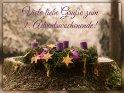 Viele liebe Grüße zum 1. Adventswochenende!    Dieses Motiv befindet sich seit dem 29. November 2017 in der Kategorie Adventskarten.