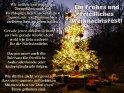 Ein frohes und friedliches Weihnachtsfest!  Wir sollten uns weder von Terroristen noch von Rechtspopulisten vorschreiben lassen, wie wir Weihnachten zu feiern bzw. zu leben haben.  Gerade jener, dessen Geburt so viele gerade feiern, steht wohl wie kein anderer für die Nächstenliebe.  Daraus muss auch die Toleranz für friedliche Andersdenkende oder Andersglaubende folgen.  Wir dürfen nicht vergessen, dass viele unserer geflüchteten Mitmenschen vor ähnlichen Taten geflohen sind.    Dieses Kartenmotiv wurde am 20. Dezember 2016 neu in die Kategorie Weihnachtskarten aufgenommen.