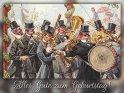 Alles Gute zum Geburtstag!  Antike Postkarte mit einem Motiv von Arthur Thiele (1860-1936)    Aus der Kategorie Geburtstagskarten für Musikfreunde