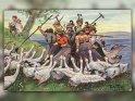 Antike Postkarte mit einem Motiv von Arthur Thiele (1860-1936)