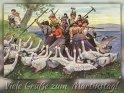 Viele Grüße zum Martinstag!  Antike Postkarte mit einem Motiv von Arthur Thiele (1860-1936)