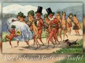 Alles Liebe und Gute zur Taufe!  Antike Postkarte mit einem Motiv von Arthur Thiele (1860-1936)
