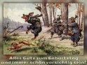 Alles Gute zum Geburtstag und immer schön vorsichtig sein!  Antike Postkarte mit einem Motiv von Arthur Thiele (1860-1936)