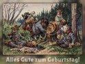 Alles Gute zum Geburtstag!  Antike Postkarte mit einem Motiv von Arthur Thiele (1860-1936)