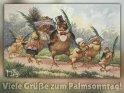 Viele Grüße zum Palmsonntag!  Antike Postkarte mit einem Motiv von Arthur Thiele (1860-1936)