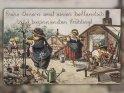 Frohe Ostern und einen hoffentlich bald beginnenden Frühling!  Antike Postkarte mit einem Motiv von Arthur Thiele (1860-1936)    Aus der Kategorie Antike Osterkarten