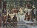 Eine besinnliche Weihnacht!  Antike Postkarte mit einem Motiv von Arthur Thiele (1860-1936)
