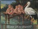 Wann ist es soweit?  Antike Postkarte mit einem Motiv von Arthur Thiele (1860-1936)