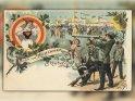 Gruß vom Münchner Oktober-Fest  Antike Postkarte mit einem Motiv von Arthur Thiele (1860-1936)