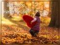 Herzliche Herbstgr��e!    Dieses Motiv ist am 22.10.2016 neu in die Kategorie Herbstkarten aufgenommen worden.