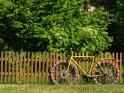 Fahrrad mit gestrickten Reifen