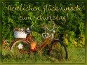 Herzlichen Glückwunsch zum Geburtstag!    Dieses Motiv ist am 24.07.2017 neu in die Kategorie Geburtstagskarten für Radfahrer aufgenommen worden.