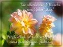 Die allerbesten Wünsche zum Geburtstag! Hoffentlich ist es der Auftakt eines großartigen Jahres!    Dieses Motiv findet sich seit dem 29. August 2017 in der Kategorie Geburtstagskarten für Blumenliebhaber .