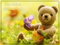 Herzlichen Glückwunsch zum Geburtstag!    Dieses Motiv findet sich seit dem 27. September 2017 in der Kategorie Geburtstagskarten für Bärenfreunde.