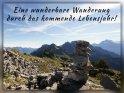 Eine wunderbare Wanderung durch das kommende Lebensjahr!    Aus der Kategorie Geburtstagskarten für Reiselustige