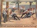 Einen wunderschönen Geburtstag!    Antike Postkarte mit einem Motiv von Arthur Thiele (1860-1936)