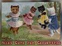 Alles Gute zum Geburtstag    Antike Postkarte mit einem Motiv von Arthur Thiele (1860-1936)    Dieses Kartenmotiv wurde am 30. September 2017 neu in die Kategorie Geburtstagskarten für Kinder aufgenommen.