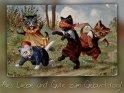 Alles Liebe und Gute zum Geburtstag    Antike Postkarte mit einem Motiv von Arthur Thiele (1860-1936)