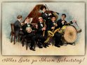 Alles Gute zu Ihrem Geburtstag!    Antike Postkarte mit einem Motiv von Arthur Thiele (1860-1936)