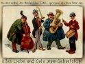 Da mir selbst die Musikalität fehlt, springen die Vier hier ein.  Alles Liebe und Gute zum Geburtstag!    Antike Postkarte mit einem Motiv von Arthur Thiele (1860-1936)