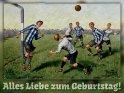 Alles Liebe zum Geburtstag!    Antike Postkarte mit einem Motiv von Arthur Thiele (1860-1936)    Dieses Motiv findet sich seit dem 29. Juli 2017 in der Kategorie Geburtstagskarten für Fußballer & Fußballfans.