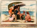 Die allerbesten Wünsche zum Geburtstag!    Antike Postkarte mit einem Motiv von Arthur Thiele (1860-1936)