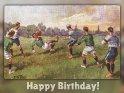Happy Birthday!    Antike Postkarte mit einem Motiv von Arthur Thiele (1860-1936)    Dieses Motiv ist am 13.08.2017 neu in die Kategorie Geburtstagskarten für Fußballer & Fußballfans aufgenommen worden.