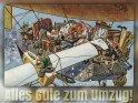 Alles Gute zum Umzug!    Antike Postkarte mit einem Motiv von Arthur Thiele (1860-1936)