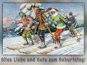 Alles Liebe und Gute zum Geburtstag!  Antike Postkarte mit einem Motiv von Arthur Thiele (1860-1936)