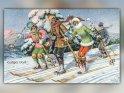 Lustiges Volk!  Antike Postkarte mit einem Motiv von Arthur Thiele (1860-1936)