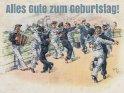 Alles Gute zum Geburtstag!    Antike Postkarte mit einem Motiv von Arthur Thiele (1860-1936)    Dieses Motiv ist am 19.02.2018 neu in die Kategorie Geburtstagskarten für Segler & Seebären aufgenommen worden.