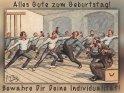 Alles Gute zum Geburtstag!  Bewahre Dir Deine Individualität!    Antike Postkarte mit einem Motiv von Arthur Thiele (1860-1936)