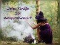 Liebe Grüße zur Walpurgisnacht!    Dieses Kartenmotiv wurde am 30. April 2017 neu in die Kategorie Walpurgisnacht aufgenommen.