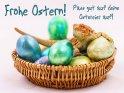 Frohe Ostern!  Pass gut auf deine Ostereier auf!    Dieses Kartenmotiv ist seit dem 30. März 2018 in der Kategorie Lustige Osterkarten.
