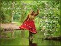 Du bist eine Tänzerin auf der Bühne deines Lebens.  Heute applaudieren wir dir zur Vollendung des einen und dem Beginn des nächsten Tanzes!