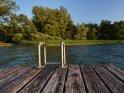 Treppe an einem Steg am Selenter See