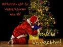 Fröhliche Weihnachten!  Hoffentlich gibt der Weihnachtsmann was ab!    Dieses Kartenmotiv wurde am 22. Dezember 2018 neu in die Kategorie Lustige Advents & Weihnachtskarten aufgenommen.