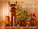 Fröhliche Weihnachten  und lasst euch den Baum nicht absägen!    Dieses Motiv ist am 09.12.2018 neu in die Kategorie Lustige Advents & Weihnachtskarten aufgenommen worden.