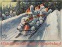 Glückwunsch zum Geburtstag!  Antike Postkarte mit einem Motiv von Arthur Thiele (1860-1936)