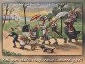 Roll gut durch das neue Lebensjahr!    Antike Postkarte mit einem Motiv von Arthur Thiele (1860-1936)    Aus der Kategorie Geburtstagskarten für Sportler