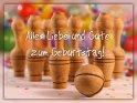 Alles Liebe und Gute zum Geburtstag!    Dieses Motiv ist am 19.01.2019 neu in die Kategorie Geburtstagskarten für Kegelnde aufgenommen worden.