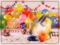 Alles Liebe und Gute zum Geburtstag!    Dieses Kartenmotiv ist seit dem 29. Januar 2019 in der Kategorie Geburtstagskarten für Karninchenfans.