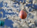 Ein glückliches, besinnliches und friedliches Osterfest!    Dieses Motiv ist am 14.04.2019 neu in die Kategorie Osterkarten aufgenommen worden.