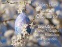 Vielen Dank für die Osterkarte!  Ebenfalls die besten Wünsche für ein friedliches und gesundes Fest!    Dieses Kartenmotiv ist seit dem 29. März 2021 in der Kategorie Danke.