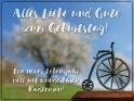 Alles Liebe und Gute zum Geburtstag!  Ein neues Lebensjahr voll mit wunderbaren Radtouren!    Dieses Motiv ist am 14.04.2019 neu in die Kategorie Geburtstagskarten für Radfahrer aufgenommen worden.