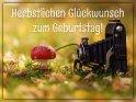 Herbstlichen Glückwunsch zum Geburtstag!    Dieses Kartenmotiv wurde am 30. Oktober 2019 neu in die Kategorie Geburtstagskarten für Fotografen aufgenommen.