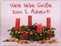 Viele liebe Grüße zum 2. Advent!    Dieses Motiv ist am 08.12.2019 neu in die Kategorie Adventskarten aufgenommen worden.
