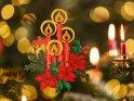 Vier brennende Kerzen zum 4. Advent