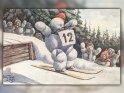 Antike Postkarte mit einem Motiv von Arthur Thiele (1860-1936)    Dieses Motiv ist am 19.01.2019 neu in die Kategorie Winterkarten aufgenommen worden.